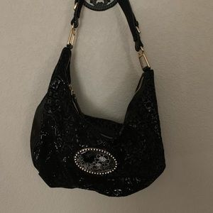 New! Debbie Brooks Black Hobo Bag
